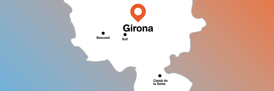 Mapa Gironès